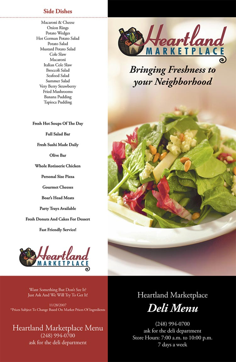 Heartland Marketplace - Farmington Hills & Westland, MI - Deli Menu