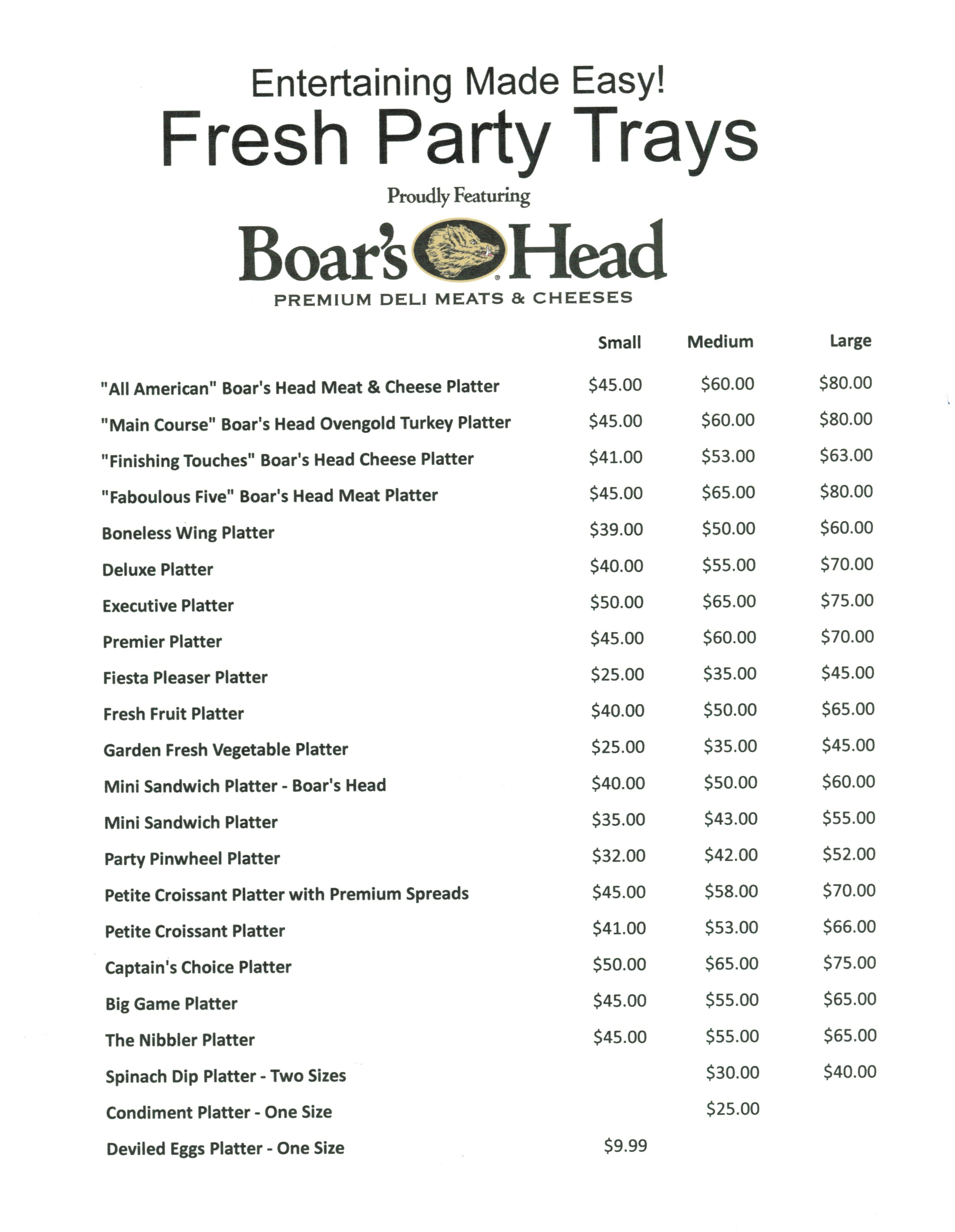 party tray pricing111815
